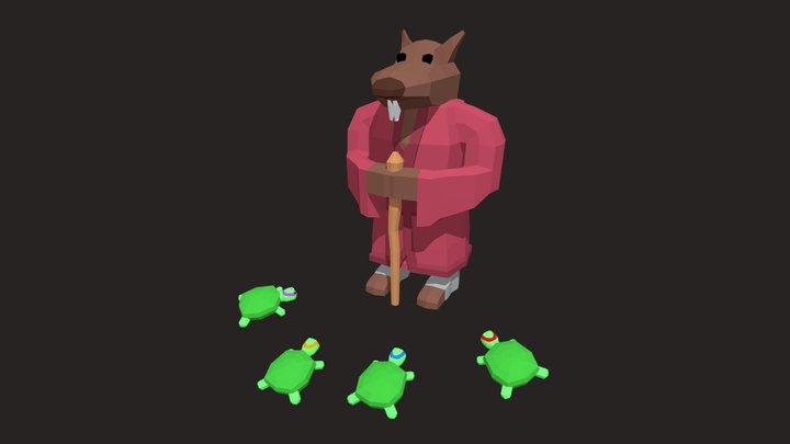 TMNT - Splinter And Turtles 3D Model