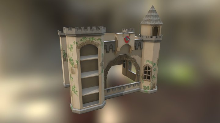 Building Plans for a Norwich Castle Bunk Bed 3D Model