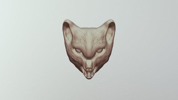 Wolf/vox head 3D Model