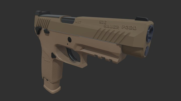 SIG SAUER M17 P320 3D Model