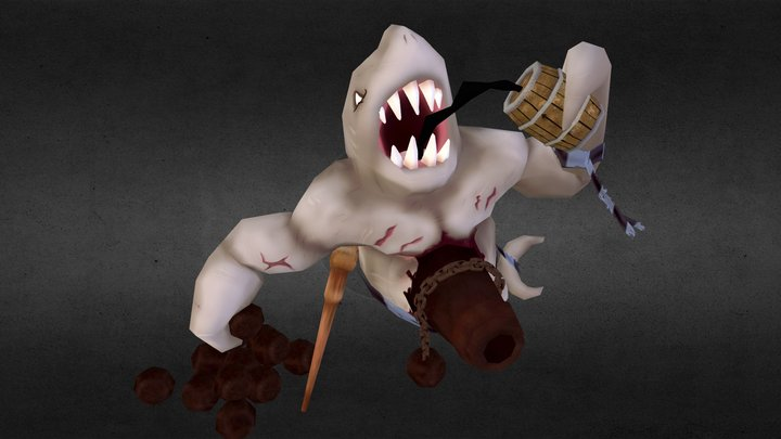 Shark-Pirate Posed: Cannoneer Tigrinus G. Tooth 3D Model