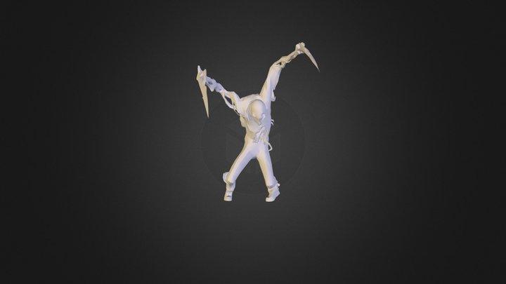 crazy Zombie 3D Model