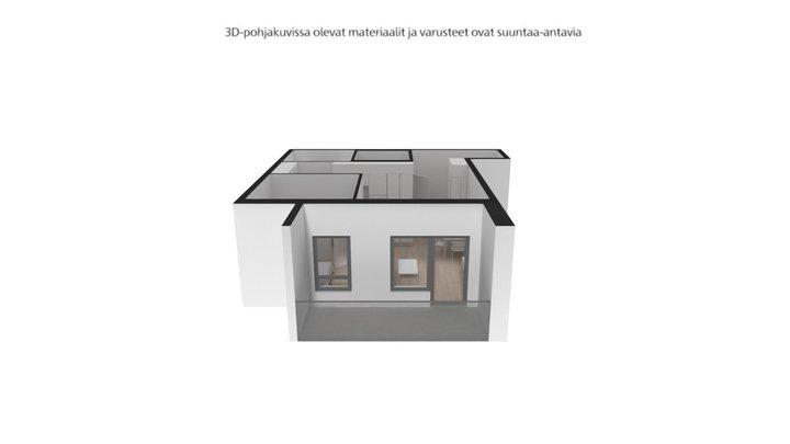 Keinulaudantie 2b, Helsinki 2H+KT-  50 m² 3D Model