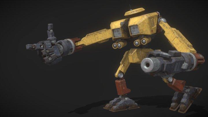 DAE Bot - Mad Max Interceptor MFP508 3D Model