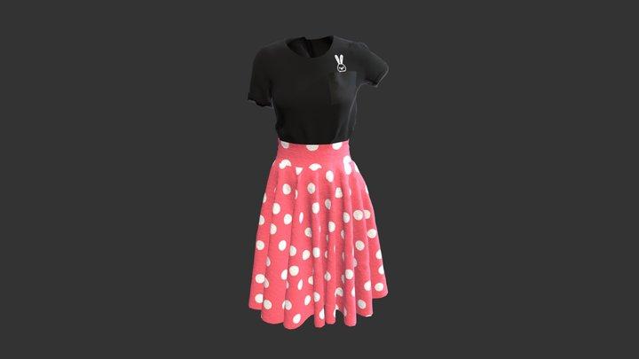 Skirt and t-shirt 3D Model