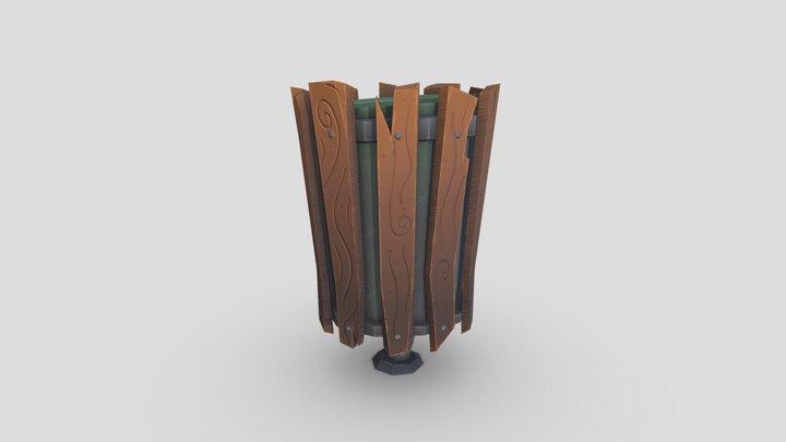 Stylized Outdoor Bin 3D Model