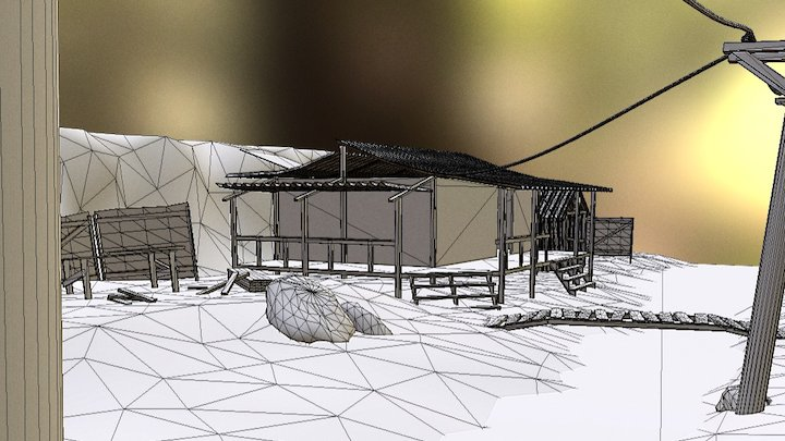 Shanty Town (Unfinished) 3D Model