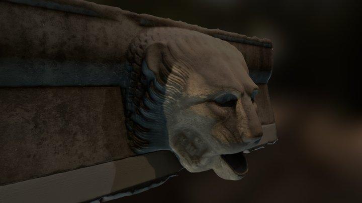 Ancient Greek Lion Pond Spitter 3D Model