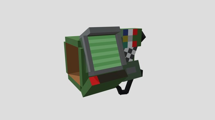 Simple minecraft pipboy 3D Model