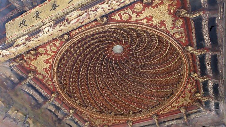 Spiral dome, Qin Family Shrine 3D Model