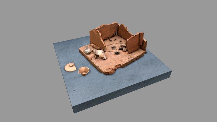Crematiegraf - Nijmegen in de Romeinse tijd 3D Model
