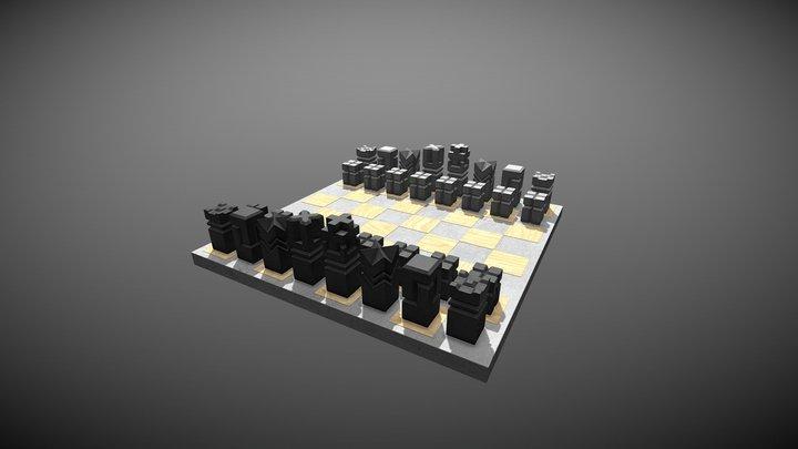 Neobrutal chess 3D Model