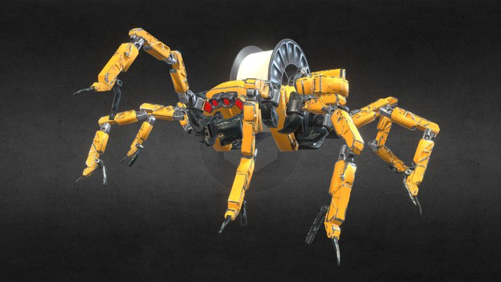 Mechanical Spider 3D Model