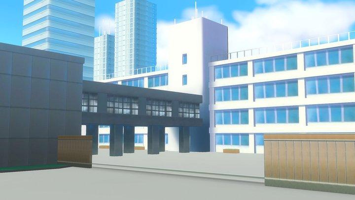 School Anime 3D Model