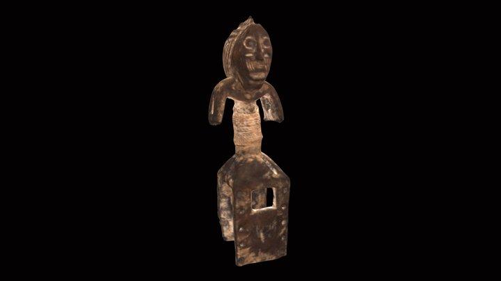 Wadja People Ceremonial Shoulder Mask 3D Model