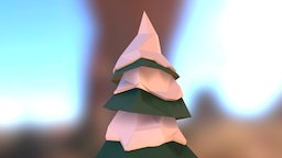 Snowy Tree I 3D Model