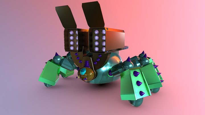SPIDER LAUCHER 3D Model