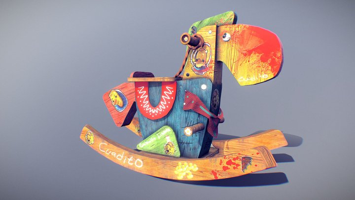 WoodToy Horse! 3D Model