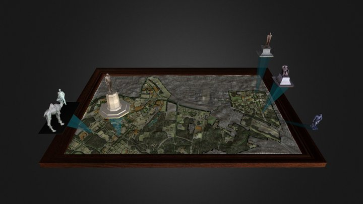 Duke Statues Map 3D Model