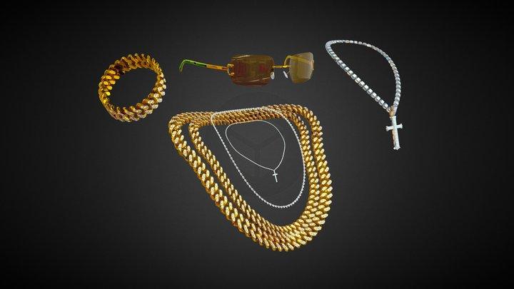 Jewelry Bundle 3D Model