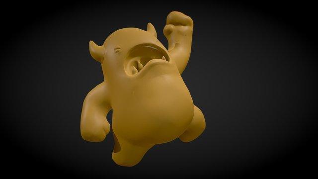 Sculpting Melvin 3D Model