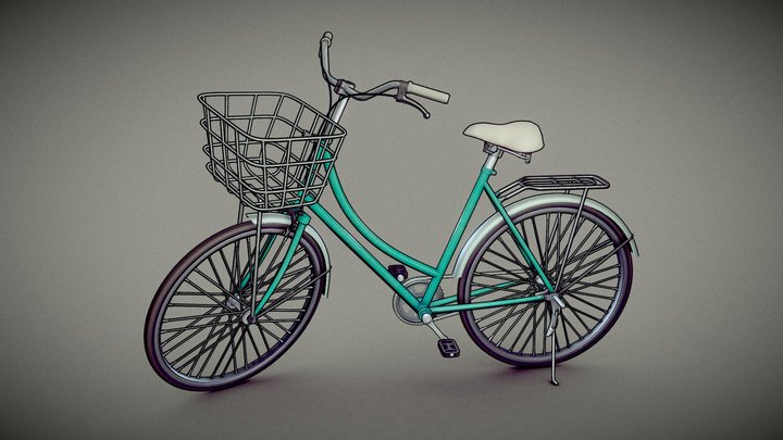 Bicycle - Cel-Shading Model 3D Model