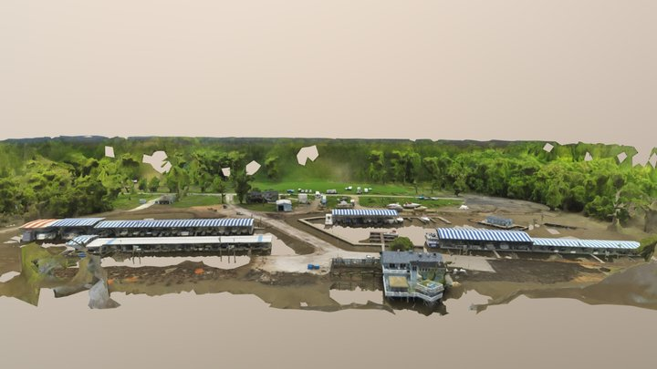 North Shore Marina and The Boat House 3D Model