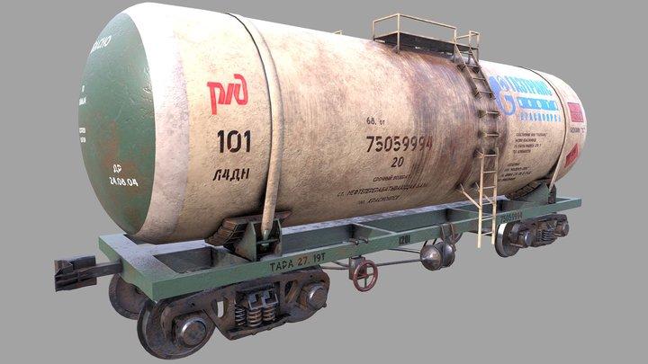 vagon-tank lowpoly 4k textures 3D Model