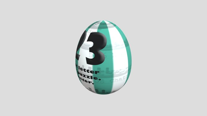 egghunt-teal 3D Model
