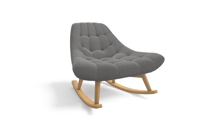 Kolton Rocking Chair, Marl Grey 3D Model