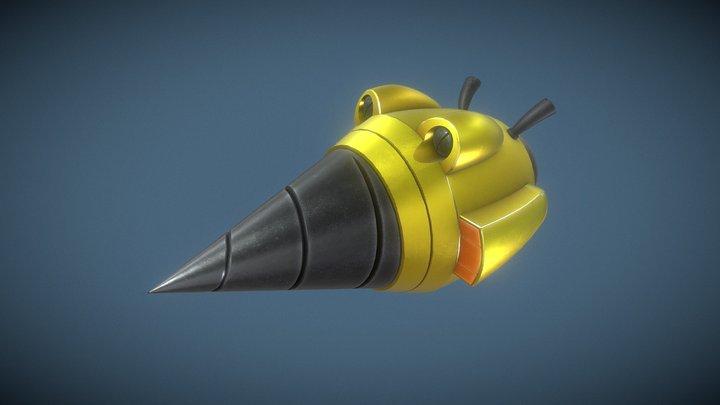 Disgaea Gun(?) - Drill Blaster 3D Model