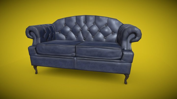 Victorian Two Seat Sofa 3D Model