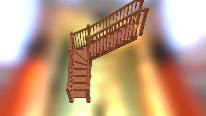 Лестница деревянная 3D Model