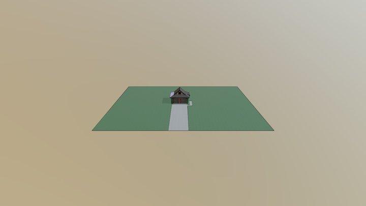 Rendering House Garage Test 2 3D Model