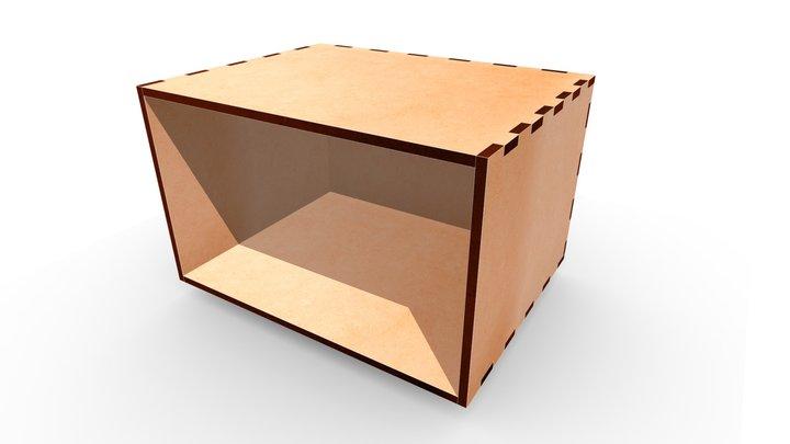 MDF Box 260x200x160 3D Model