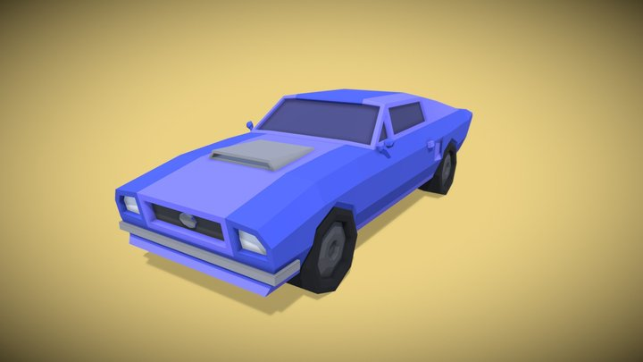 Low Poly Mustang 3D Model
