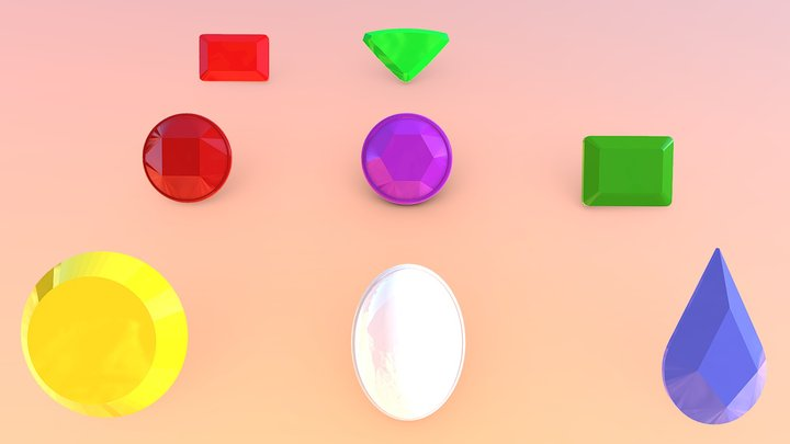 [Updated] Homeworld Gems (Set #2) 3D Model