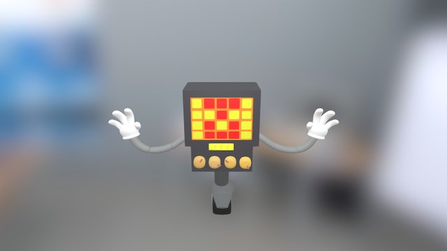 Mettaton from Undertale 3D Model