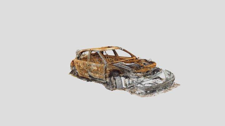 Burnt Car (Downsampled) 3D Model