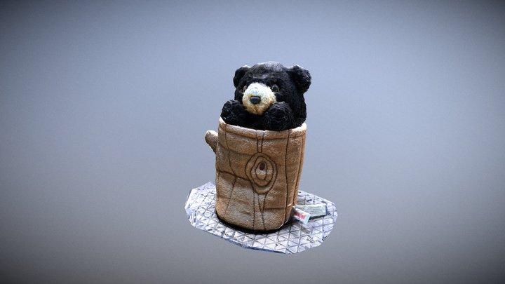Black Bear Puppet 3D Model