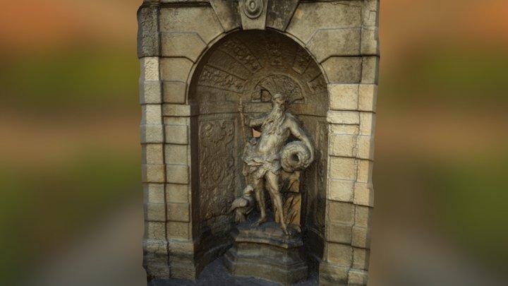 Statue of Schloss hof 3D Model