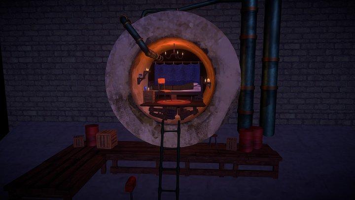 Pipe House 3D Model