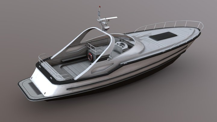 Speed Boat - Low Poly 3D Model