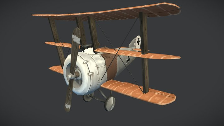 Triplane stylized airplane 3D Model