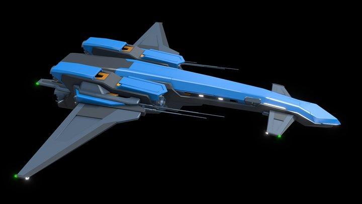 """Verdant Class Ship """"Aquamarine"""" 3D Model"""