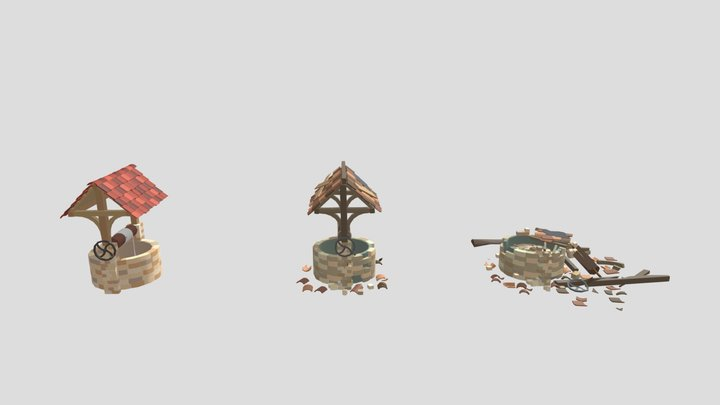 Home Work8 - New, Old and Destroyed 3D Model