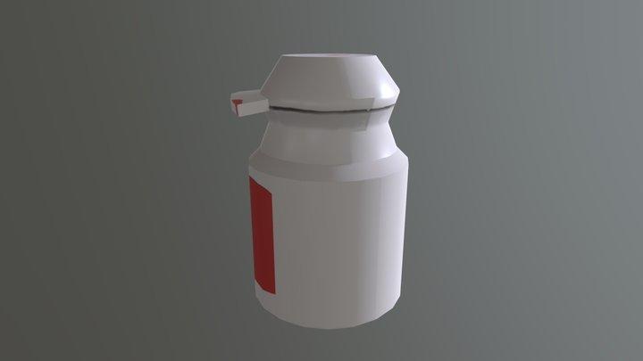 Watercolor Bottle 3D Model