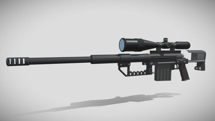 Intervention Sniper Rifle 3D Model