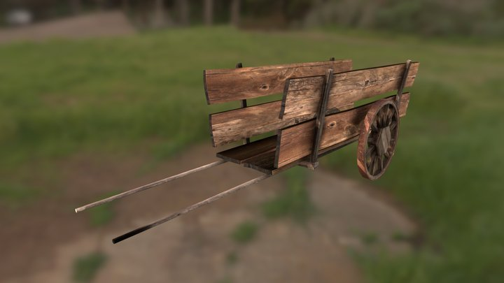 Medieval wagon 3D Model