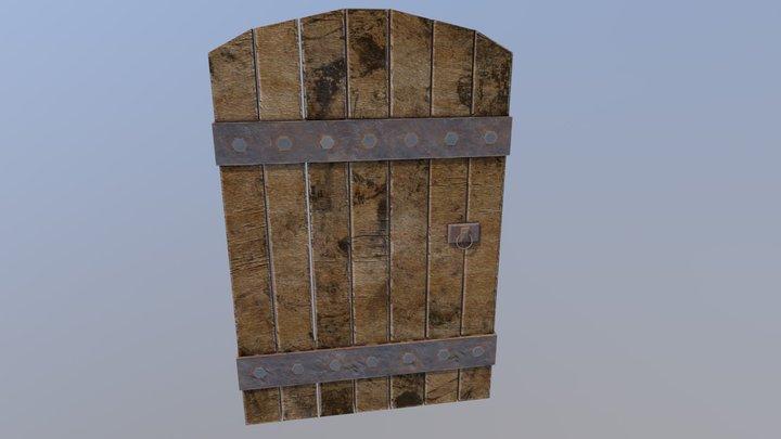 Wooden door. 3D Model
